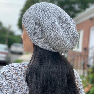 NEW HANDMADE Light Gray Beanie Hat